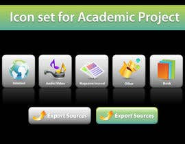 topcoder10 tarafından Icons Design for Academic Project için no 24