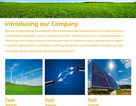 #8 para Create a Wordpress Template for Poyton Inc Energy Consulting por vinita1804