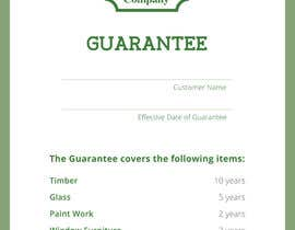 #6 for Design a customer guarantee form af dpintom1