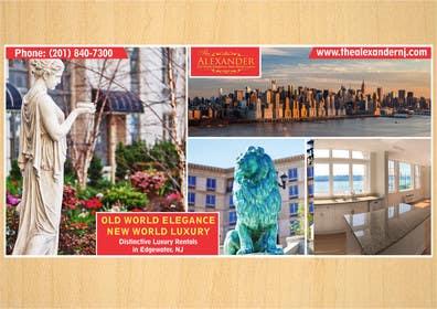 Nro 5 kilpailuun Design an Advertisement for Luxury Building Postcard käyttäjältä rajkumar3219