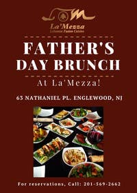 brunusmfm tarafından Design a Flyer for Restaurant Fathers Day Event için no 1