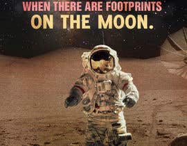 #52 for Creative Design for Inspirational Quote! (Footsteps on the moon) af kundan1234
