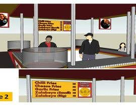 #57 untuk Redesigning Fast Food Kiosk oleh aramrut