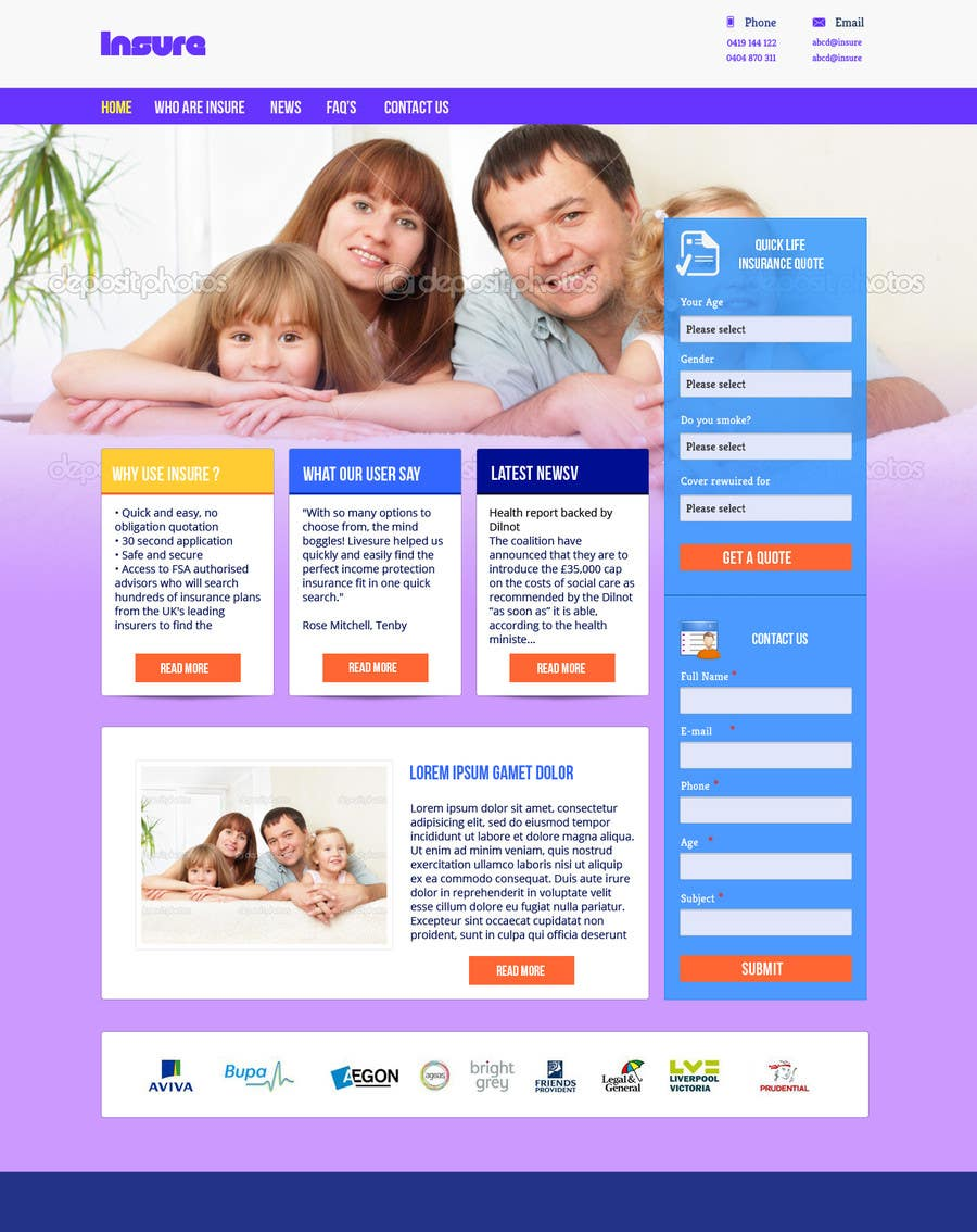 #20 for Design a Website Mockup by helixnebula2010