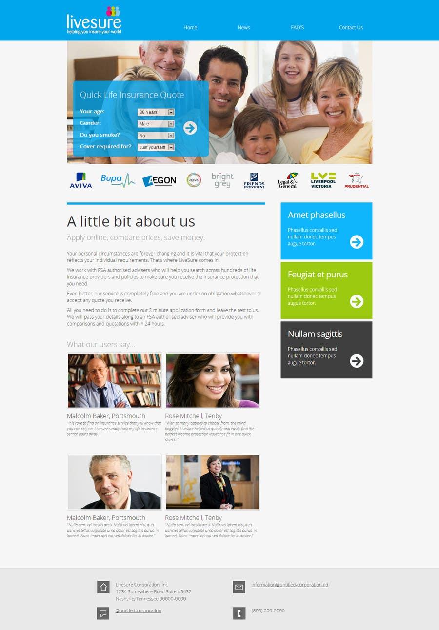 #28 for Design a Website Mockup by noyamn