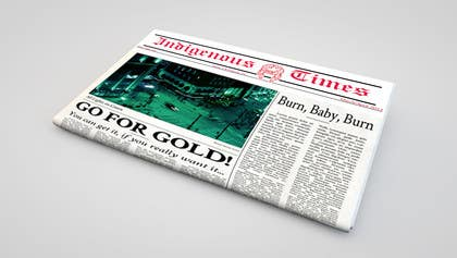 #3 untuk Design a Banner for the front page of a newspaper oleh LeeniDesigns