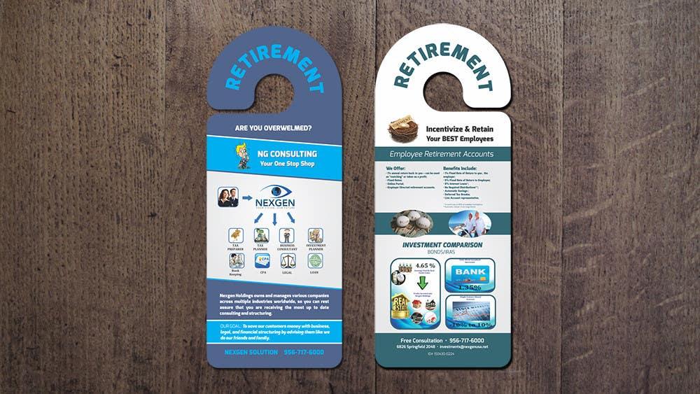 Inscrição nº 5 do Concurso para Design a Brochure for a Door Hanger- Investments and Business Services