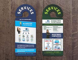 #12 para Design a Brochure for a Door Hanger- Investments and Business Services por thonnymalta