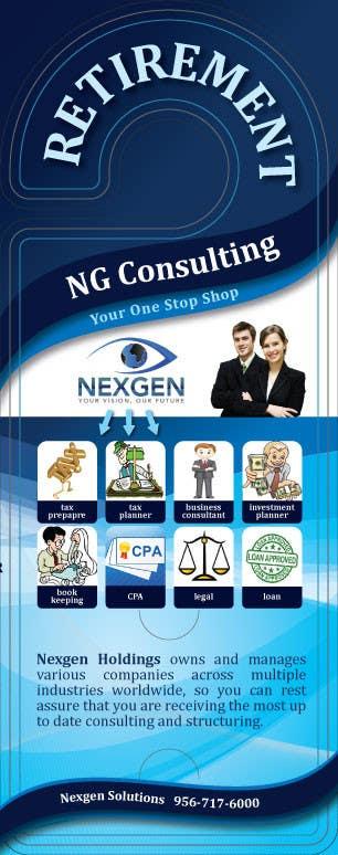 Inscrição nº 10 do Concurso para Design a Brochure for a Door Hanger- Investments and Business Services