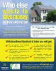 Graphic Design Natečajni vnos #13 za Advertisement Design for Goodhew Solar & Electrical