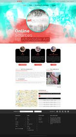logodesire tarafından Design Landing Page, Responsive Landing Page & Overall Theme for Art Fair Website için no 19