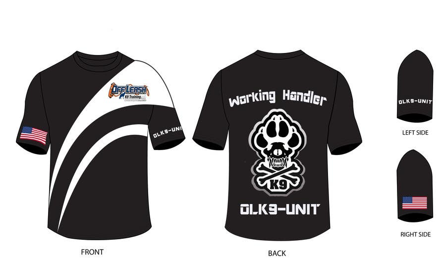 Penyertaan Peraduan #3 untuk Design a T-Shirt for Off Leash K9 Training