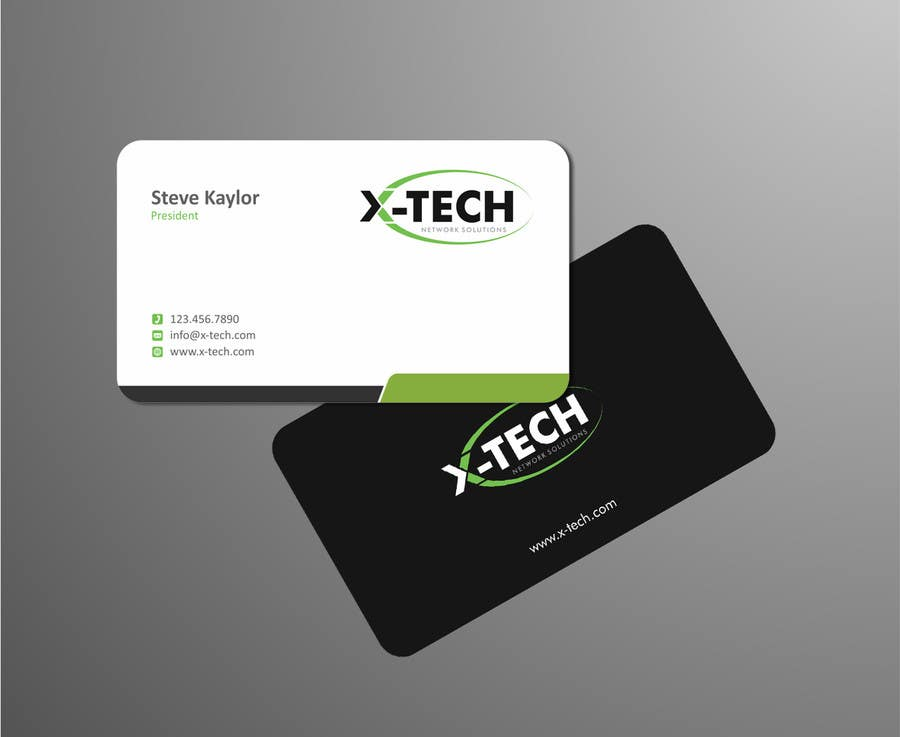 #35 for Develop a Corporate Identity for X-TechNetwork.com (Logo, Business Card & Letterhead) by ezesol