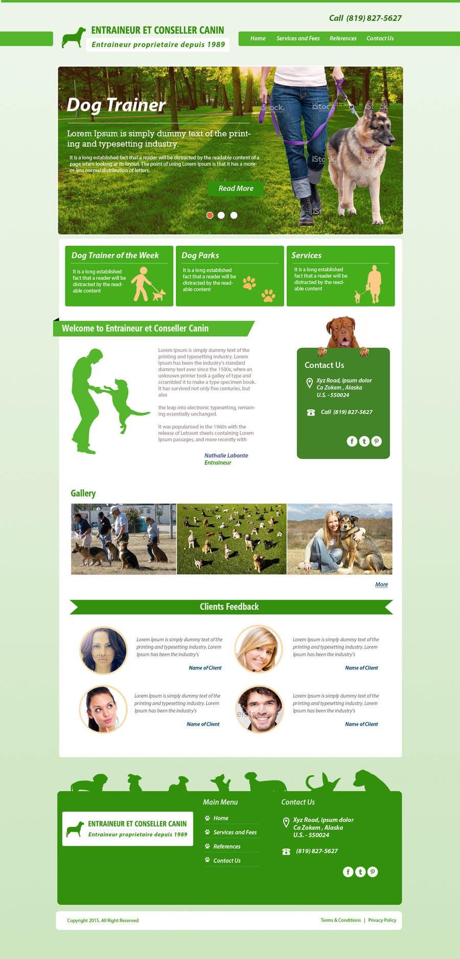 Penyertaan Peraduan #2 untuk Urgent design for Dog trainer website