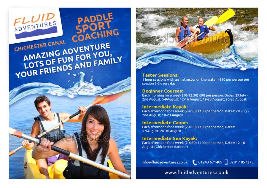 Konkurrenceindlæg #26 for Design a flyer for Summer Holiday Kayaking Courses