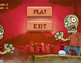 #11 for Design & Illustration - 2D Zombie Game Main Screen af Bebolum