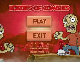 #13 for Design & Illustration - 2D Zombie Game Main Screen af Bebolum