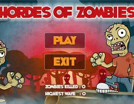 #16 for Design & Illustration - 2D Zombie Game Main Screen by Bebolum