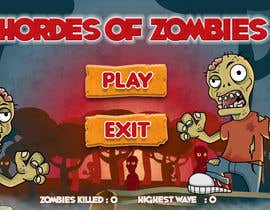 #20 untuk Design & Illustration - 2D Zombie Game Main Screen oleh Bebolum