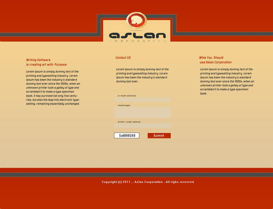 Contest Entry #                                        30                                      for                                         Graphic Design for Aslan Corporation