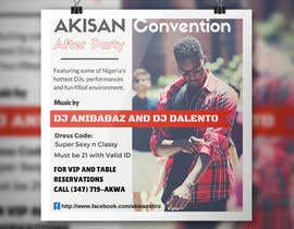 #62 untuk Design a Flyer for AKISAN Convention after-party oleh AliHasan23