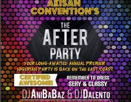 #37 untuk Design a Flyer for AKISAN Convention after-party oleh Tazzigner911