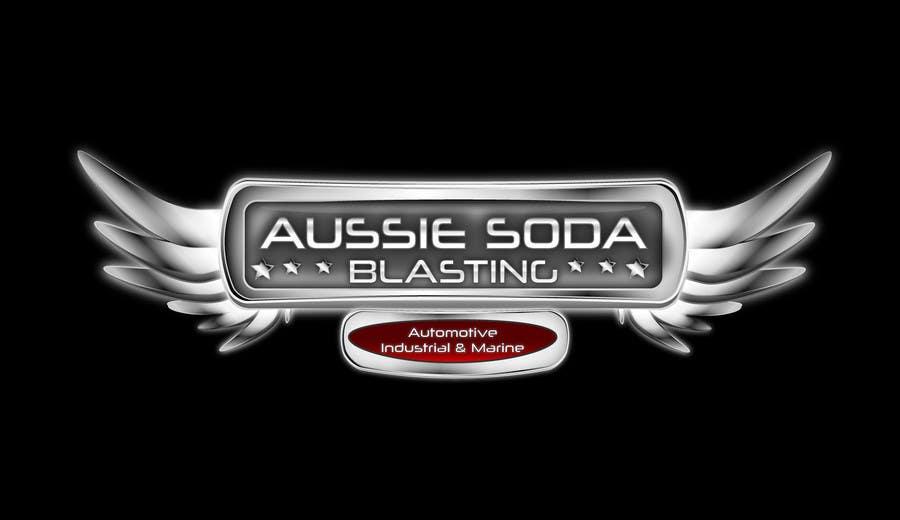 Penyertaan Peraduan #57 untuk Design a Logo for 'Aussie Soda Blasting'