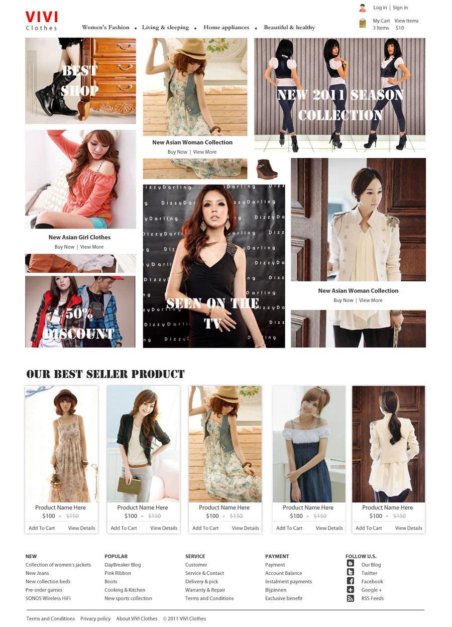 #10 for Website Design for VIVI Clothes by dragnoir
