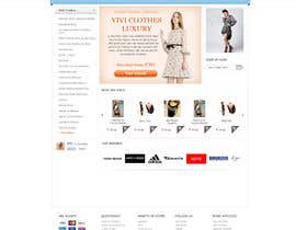 nº 38 pour Website Design for VIVI Clothes par timid
