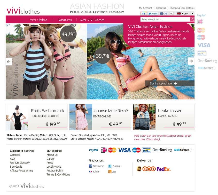 #57 for Website Design for VIVI Clothes by darila