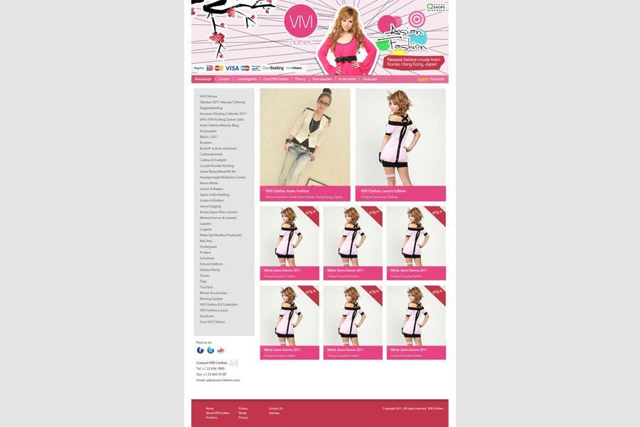 #51 for Website Design for VIVI Clothes by redstep