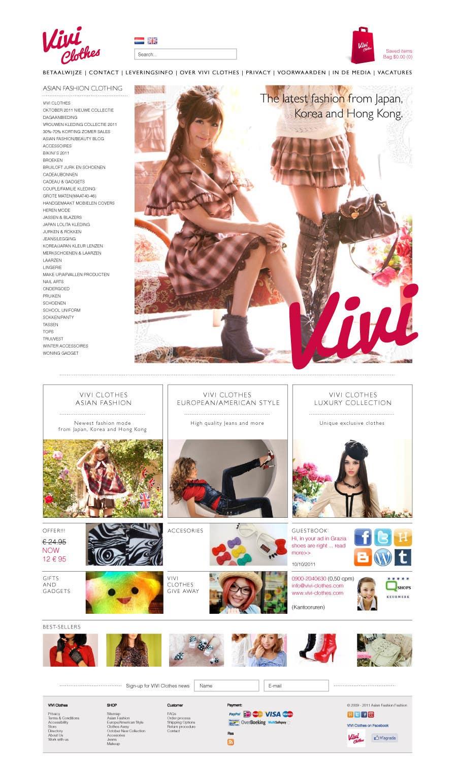 #43 for Website Design for VIVI Clothes by bygarces