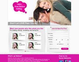 #18 , Graphic Design for a dating website homepage 来自 jasminefun