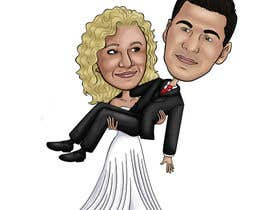 #40 para Cartoon wedding couple por cassiajc