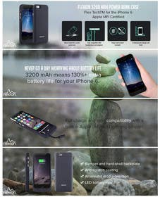 #3 untuk I need an infographic for a battery phone case oleh goranjokanovic