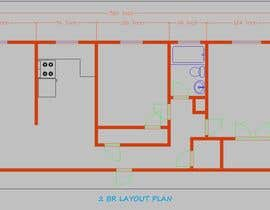 #2 para Create a 3d floor plan of 2 bedroom apt por BabyDastan