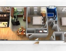 #5 para Create a 3d floor plan of 2 bedroom apt por SDBcIndia