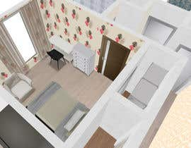 #7 para Create a 3d floor plan of 2 bedroom apt por REngine