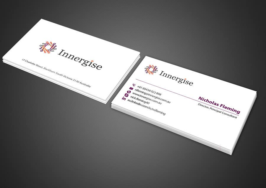 Entry 122 by imtiazmahmud80 for design business cards for innergise contest entry 122 for design business cards for innergise reheart Choice Image