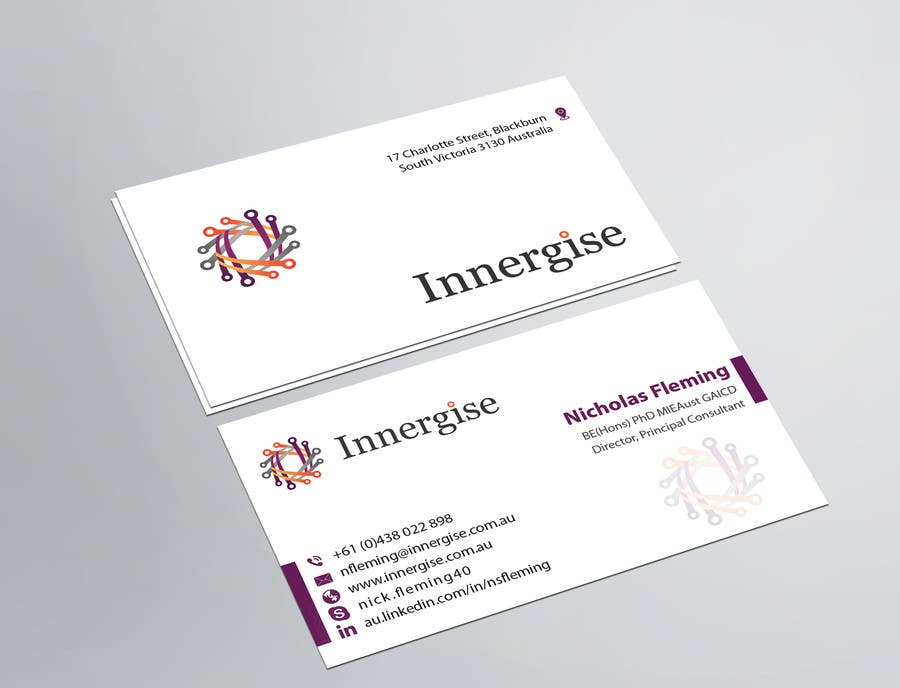 Entry 179 by imtiazmahmud80 for design business cards for innergise business card reheart Choice Image
