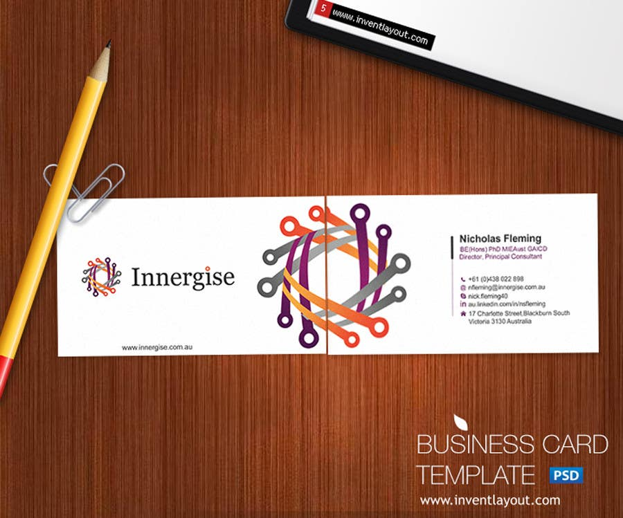 Entry 263 by gohardecent for design business cards for innergise contest entry 263 for design business cards for innergise reheart Choice Image