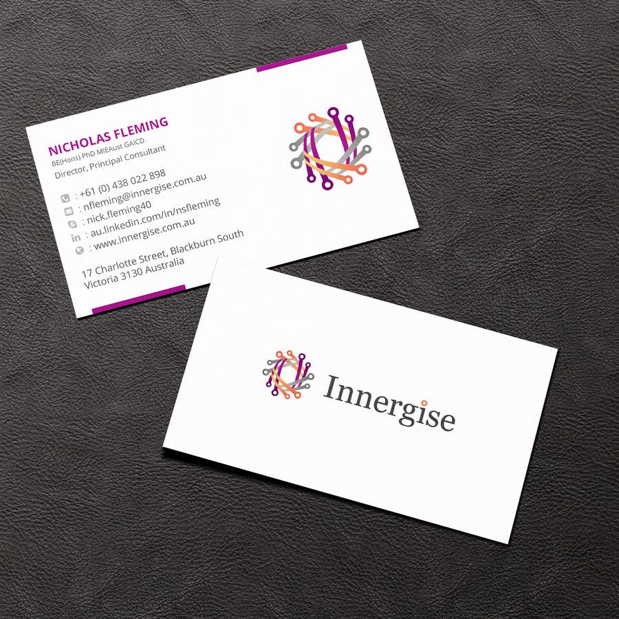 Entry 64 by sridharsilver for design business cards for innergise contest entry 64 for design business cards for innergise reheart Choice Image