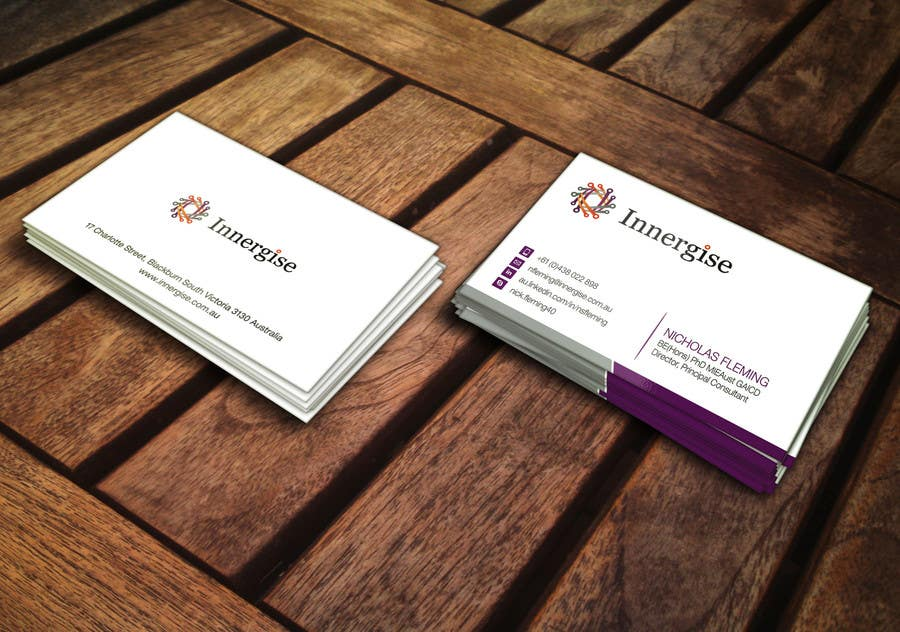 Entry 97 by arenadfx for design business cards for innergise contest entry 97 for design business cards for innergise reheart Choice Image