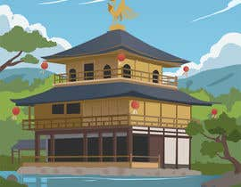 #22 for Illustrate Something for Golden Pavillion Temple (Japan) by CGCactus