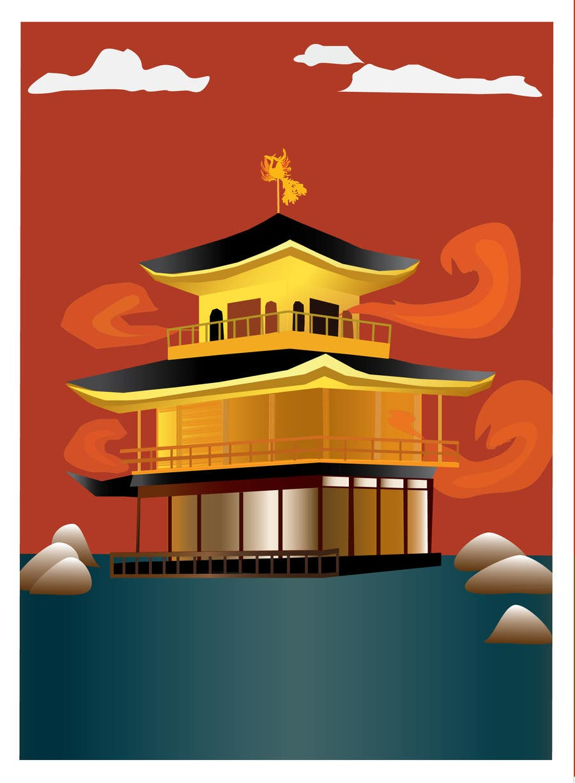 Konkurrenceindlæg #14 for Illustrate Something for Golden Pavillion Temple (Japan)