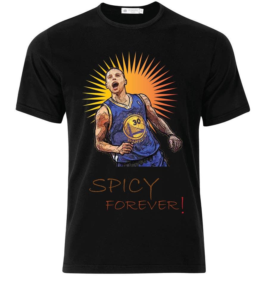 Penyertaan Peraduan #19 untuk Stephen Curry NBA/Spice for making food creative design