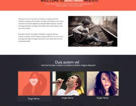 nº 1 pour Design a Website for Music Band introduction site par SadunKodagoda