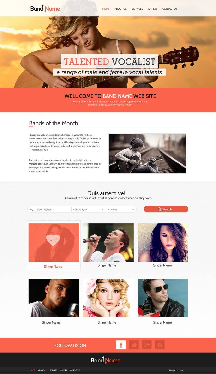 Bài tham dự cuộc thi #                                        11                                      cho                                         Design a Website for Music Band introduction site