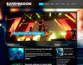 nº 8 pour Design a Website for Music Band introduction site par sulungkoesuma