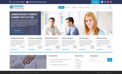 #15 untuk Design website mockup for an insurance broking company oleh ankisethiya